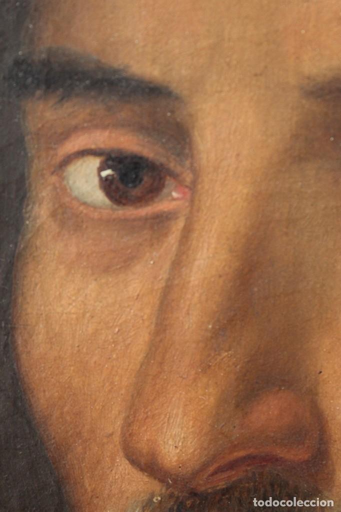 Arte: Antigua pintura al óleo sobre lienzo con retrato de gentilhombre - Foto 10 - 114361203