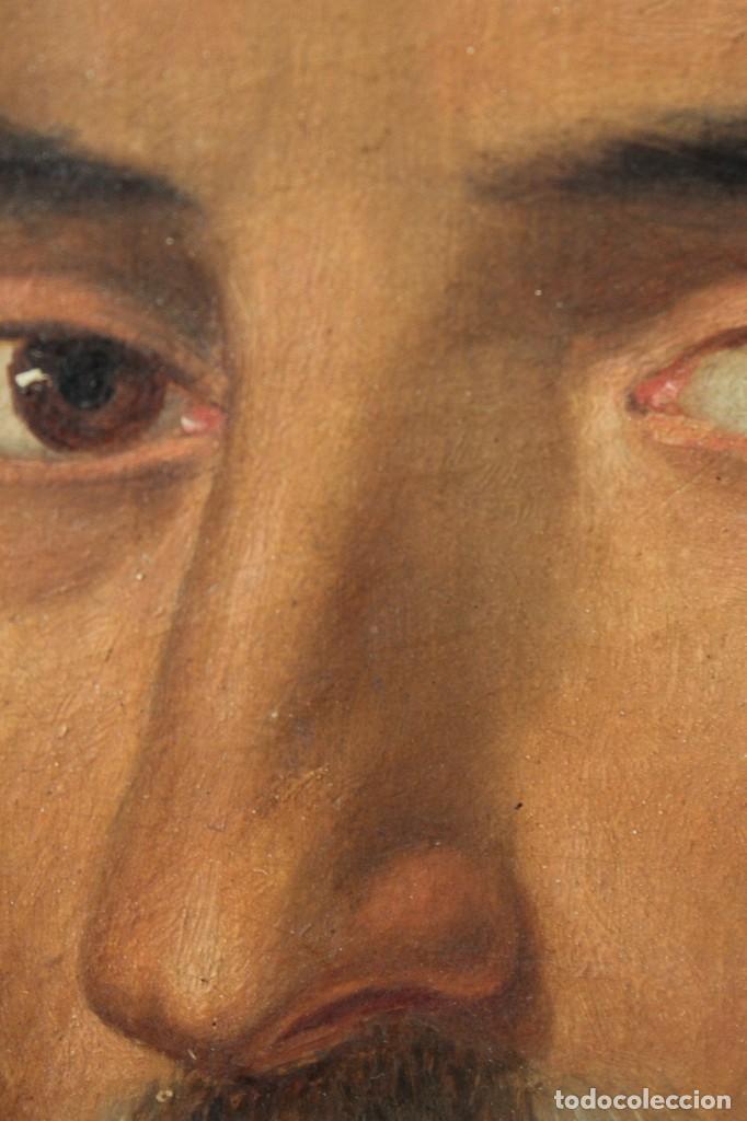 Arte: Antigua pintura al óleo sobre lienzo con retrato de gentilhombre - Foto 11 - 114361203