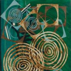 Arte: ISABEL SERRAHIMA (1934-1999) ÓLEO Y COLLAGE SOBRE LIENZO COMPOSICIÓN . Lote 114381371