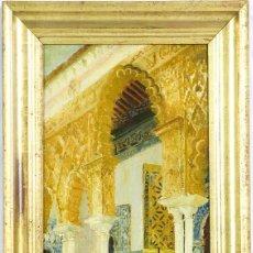 Arte: JOSE MONTENEGRO. ALCAZAR DE SEVILLA. 1892. OLEO SOBRE LIENZO. CERTIFICADO Y EXPERTIZADO.. Lote 114458196