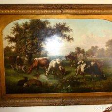 Arte: LA GRANJA, JAMES DOUBTING 1841-1904. Lote 114469467