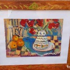 Arte: OLEO SOBRE TABLA CON FIRMA ILEGIBLE.BUEN TRAZO.. Lote 114737547