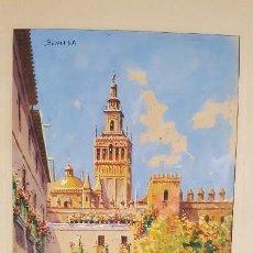 Arte: BONITA ACUARELA DE SEVILLA.FIRMADA F. SALVADORES.. Lote 114742683