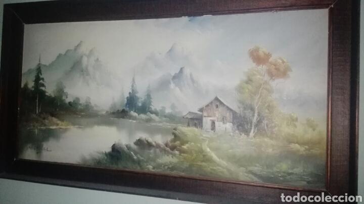PAISAJE OLEO LIENZO FIRMADO (Arte - Pintura - Pintura al Óleo Moderna siglo XIX)