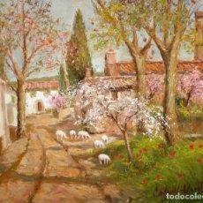 Arte: FRANCISCO CARBONELL MASSABÉ (BARCELONA,1928) OLEO SOBRE TELA TITULADO CAMI DE S'ANTIGA. Lote 114866599