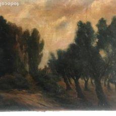 Arte: PAISAJE RURAL, OLEO SOBRE LIENZO, JOSEP DALMAU FINALES DEL S.XIX.. Lote 114902987