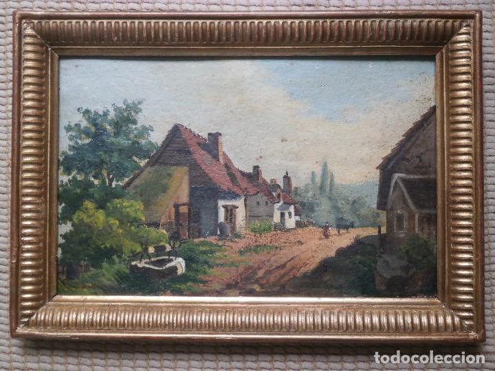 PAISAJE HOLANDÉS. SIGLO XIX. (Arte - Pintura - Pintura al Óleo Moderna siglo XIX)