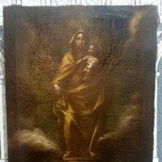 Arte: ESPECTACULAR ÓLEO SOBRE LIENZO DE LA VIRGEN DEL PILAR, ESCUELA ARAGONESA, ATRIBUIDO A JOSÉ LUZÁN.. Lote 114984955