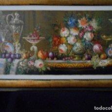 Arte: BODEGON DE CRISTAL Y FLORES DE R.MICHEL. Lote 115034963