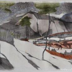 Arte: LINDA LASSON-LA NIEVE SE DERRITE EN ICELAKE VALLEY. Lote 115092867
