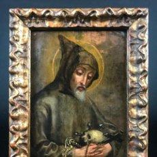 Arte: ÓLEO SOBRE COBRE DEL SIGLO XVII. SAN PEDRO DE ALCÁNTARA O SAN FCO DE ASIS. Lote 115133847