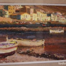 Arte: JORDI FREIXAS CORTES (BARCELONA, 1917 - 1984) OLEO / TABLEX, , POSIBLEMENTE, PORT DE LA SELVA,. Lote 115180795