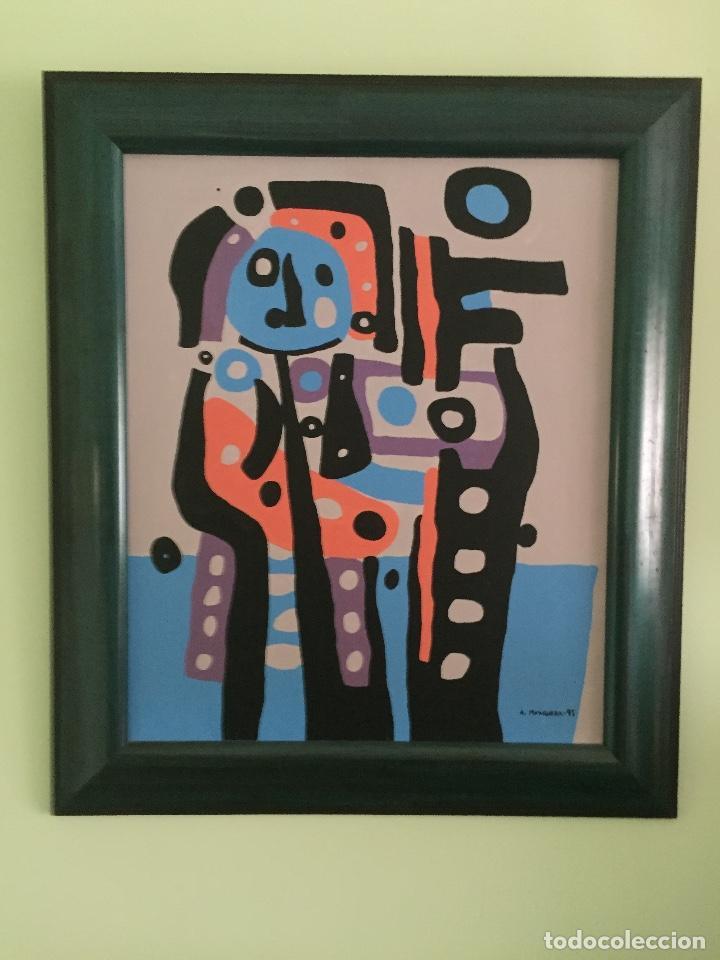 óleo sobre tela firmado y enmarcado enmarcado - Comprar Pintura al ...