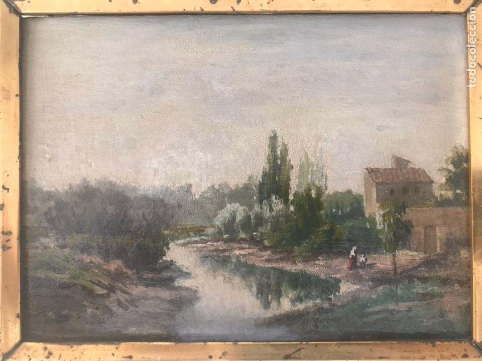 Arte: Óleo sobre tabla (Posiblemente atribuido a Carlos de Haes) - Foto 2 - 115191876