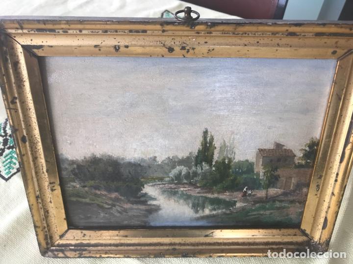 Arte: Óleo sobre tabla (Posiblemente atribuido a Carlos de Haes) - Foto 3 - 115191876