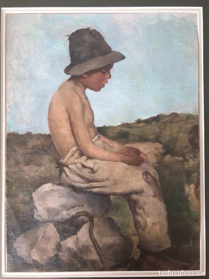 ÓLEO SOBRE LIENZO. RETRATO DE PASTOR (Arte - Pintura - Pintura al Óleo Antigua sin fecha definida)