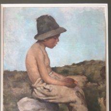 Arte: ÓLEO SOBRE LIENZO. RETRATO DE PASTOR. Lote 115192711
