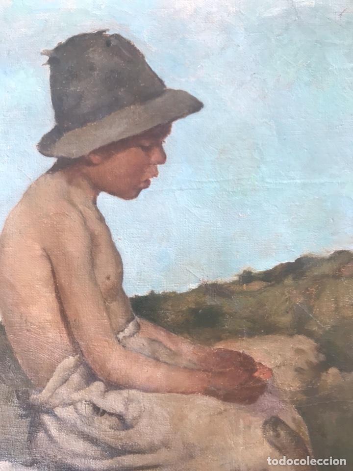 Arte: Óleo sobre lienzo. Retrato de pastor - Foto 3 - 115192711