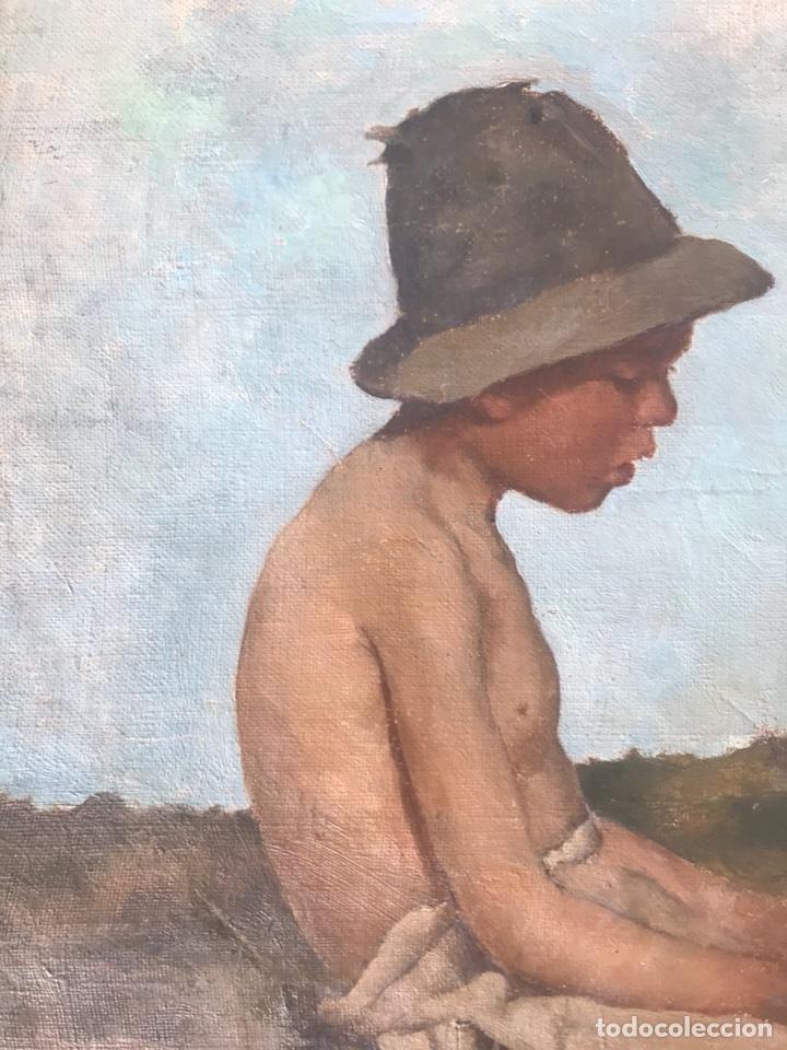 Arte: Óleo sobre lienzo. Retrato de pastor - Foto 5 - 115192711