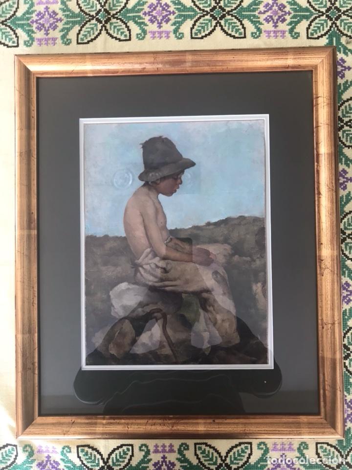 Arte: Óleo sobre lienzo. Retrato de pastor - Foto 6 - 115192711