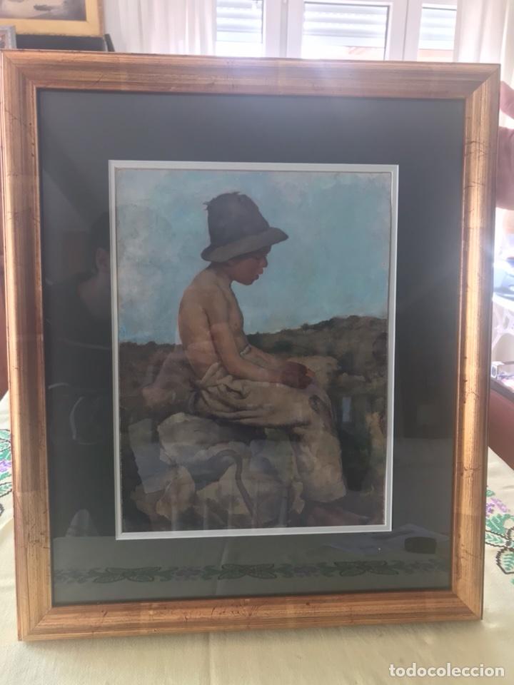Arte: Óleo sobre lienzo. Retrato de pastor - Foto 7 - 115192711