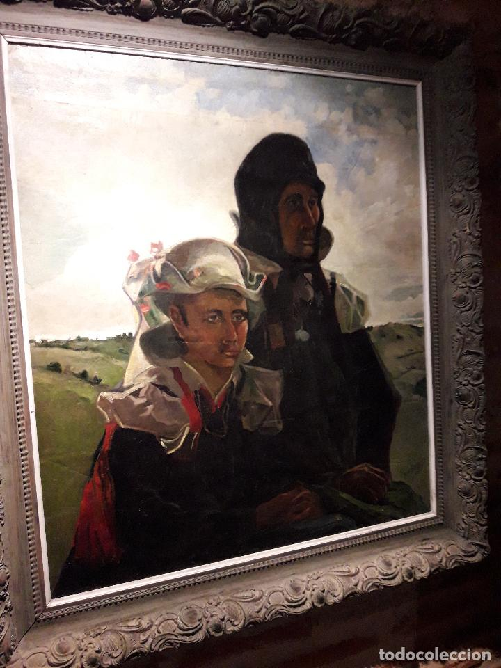 OLEO SOBRE LIENZO ESCUELA VASCA (Arte - Pintura - Pintura al Óleo Contemporánea )