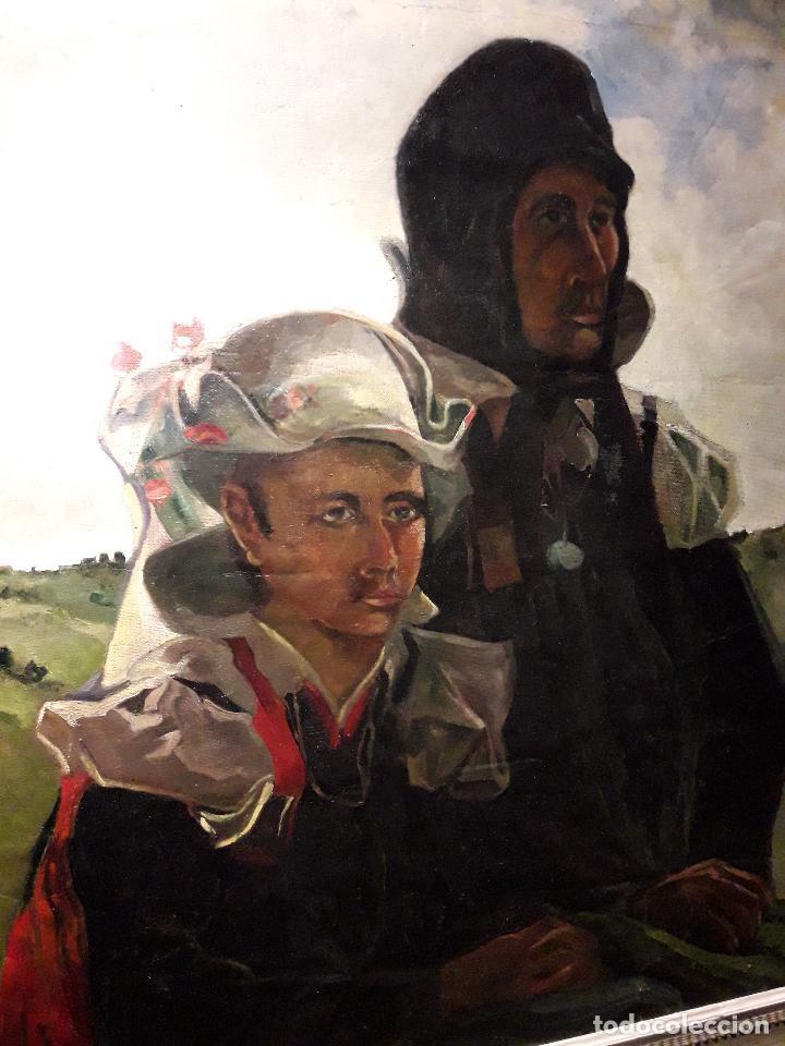 Arte: Oleo sobre lienzo escuela vasca - Foto 2 - 115287111