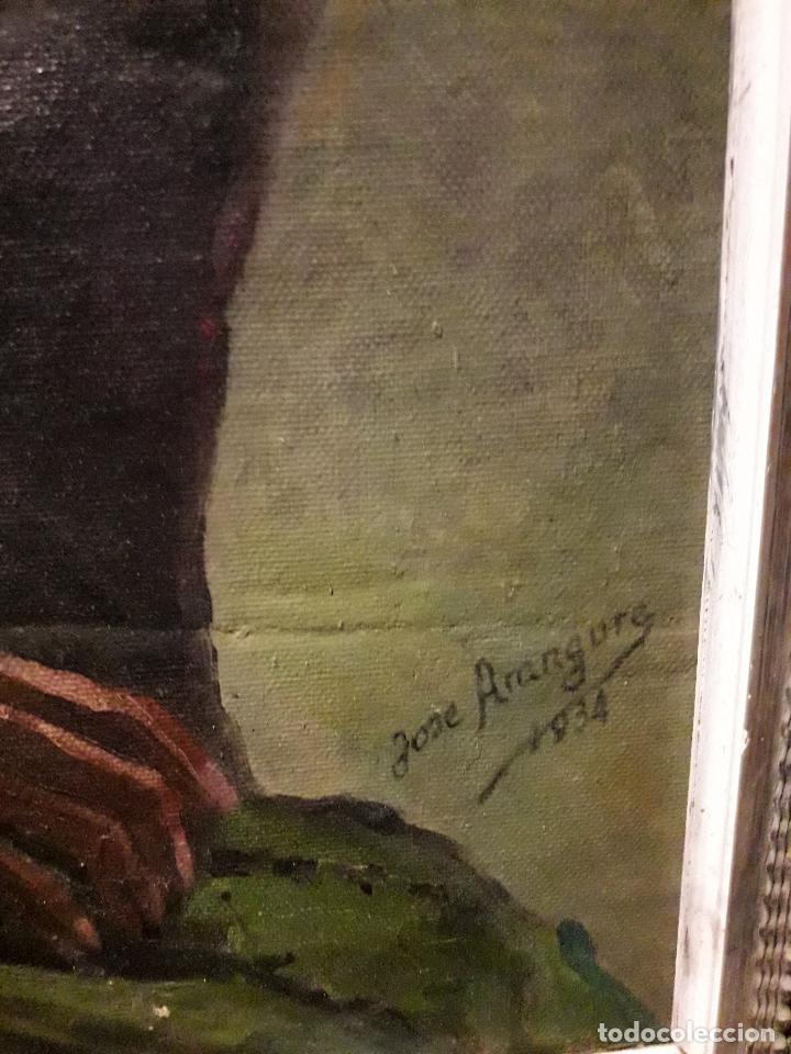 Arte: Oleo sobre lienzo escuela vasca - Foto 3 - 115287111