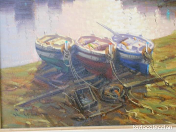 Arte: PUERTO CON BARCAS DE S.CUBERO - Foto 2 - 115339591