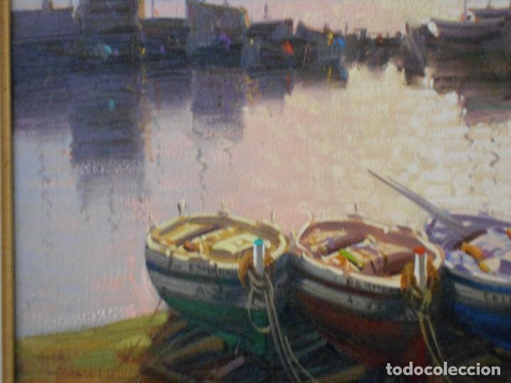 Arte: PUERTO CON BARCAS DE S.CUBERO - Foto 5 - 115339591