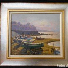 Arte: PUERTO CON BARCAS II DE S.CUBERO . Lote 115340087