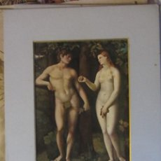 Arte: REPRODUCCIÓN ANTIGUA ALEMANA DER SÜNDENFALL PALMA VECCHIO 1903. Lote 115423519