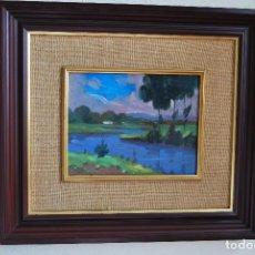 Arte: PRECIOSO ÓLEO SOBRE TABLA - PAISAJE IMPRESIONISTA - FIRMADO. Lote 115470531