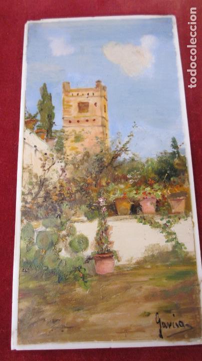 Arte: Pareja de pinturas al oleo sobre porcelana - Foto 4 - 115476051