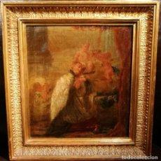 Arte: SAN LUIS GONZAGA ABRAZANDO EL CRUCIFIJO MUY PROXIMA A LUIS PARET (1746-99). Lote 115494295