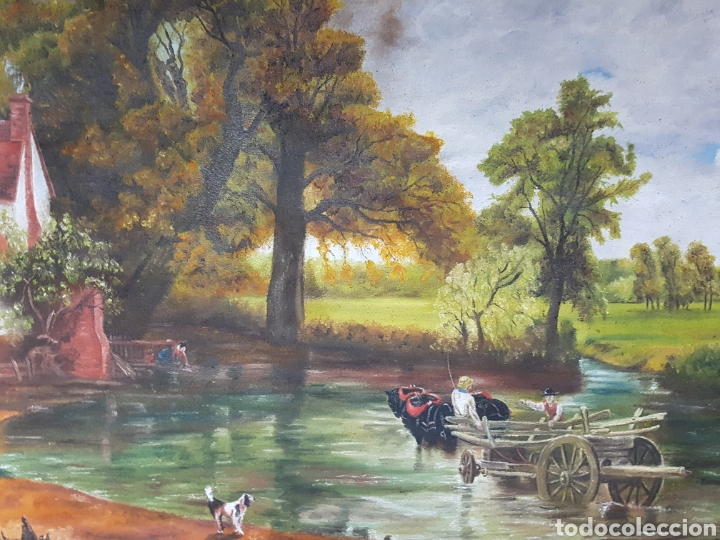 Arte: OLEO SOBRE LIENZO , INGLÉS, ESCENA DE CAMPO, 47X67cm firmado, G.A. THOMSON - Foto 3 - 115503863