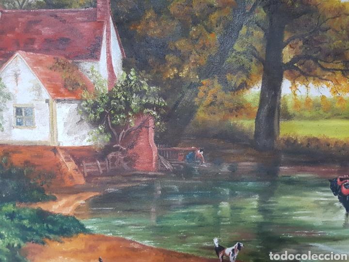 Arte: OLEO SOBRE LIENZO , INGLÉS, ESCENA DE CAMPO, 47X67cm firmado, G.A. THOMSON - Foto 4 - 115503863