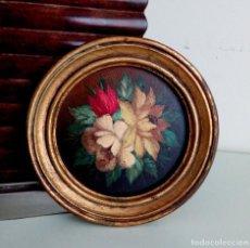 Arte: CUADRO - OLEO SOBRE TABLA CON MARCO EN PAN DE ORO.. Lote 115533111