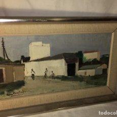Arte: ANTIGUO CUADRO ENMARCAD OLEO SOBRE LIENZO FIRMADO, PONE GRANADA. Lote 115539115