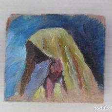 Arte: MINIATURA. OLEO IMPRESIONISTA SOBRE TABLA. ANÓNIMO.. Lote 115564827