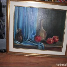 Arte: BODEGÓN GRANADAS OLEO SOBRE LIENZO ENMARCADO MEDIDA 81 X 70 CM. FIRMADO GERMAN DE VILLA SEVIL. Lote 115619775