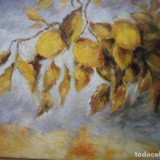 Arte - ÓLEO LIMONES CON SUS HOJAS DE 50 X 40 CM. M BRONCHUD - 115628107