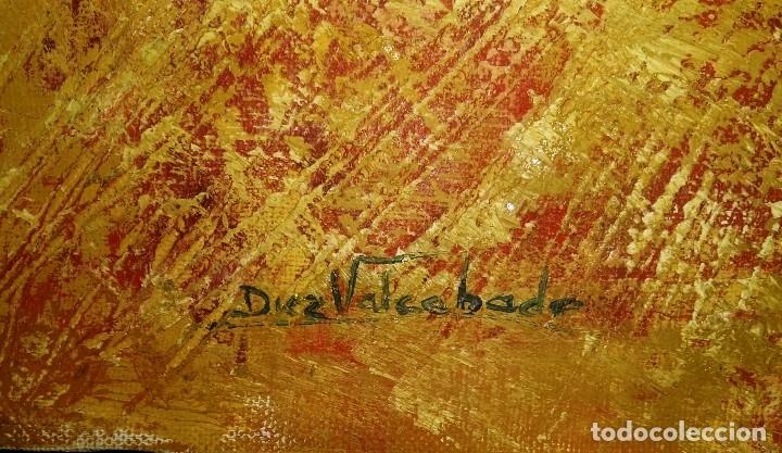 Arte: Óleo sobre lienzo, Firmado Díez Valcabado. Concha Díez Valcabado. Valladolid. - Foto 3 - 115647507
