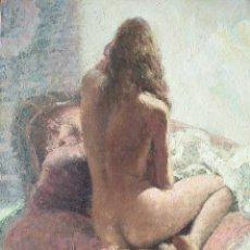 Arte: ORIGINAL 1950'S : DESNUDO FEMENINO, JOVEN MUJER DE ESPALDAS. Lote 115663511