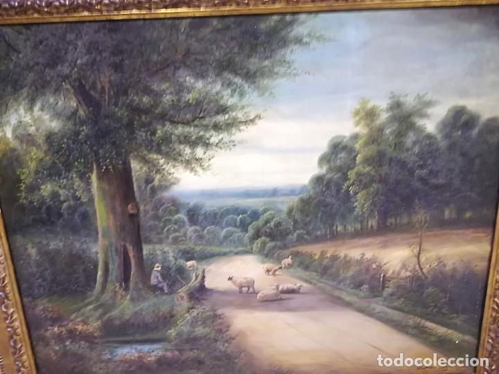 Arte: PAISAJE CON OBEJAS, DE CLIFFORD LLOYD, OLEO SOBRE LIENZO - Foto 2 - 115669699