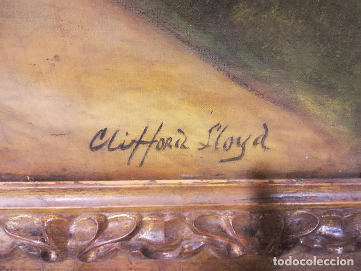 Arte: PAISAJE CON OBEJAS, DE CLIFFORD LLOYD, OLEO SOBRE LIENZO - Foto 3 - 115669699