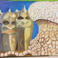 Arte: ÓLEO SOBRE LIENZO CON LAS AZOTEAS DE LA CASA MILÀ DE CONCEPCIÓN CUENDE . Lote 115689755