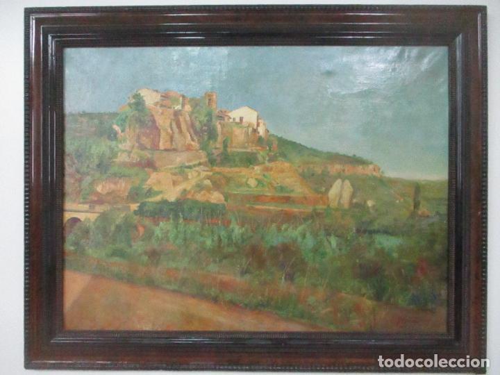 ÓLEO SOBRE TELA - PAISAJE - FIRMA F. CARRERAS (ORÁN, ARGELIA 1925) - ESTUDIÓ EN MALLORCA (Arte - Pintura - Pintura al Óleo Moderna sin fecha definida)