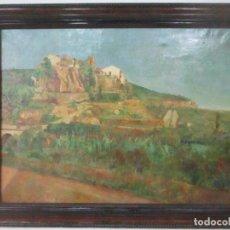Arte: ÓLEO SOBRE TELA - PAISAJE - FIRMA F. CARRERAS (ORÁN, ARGELIA 1925) - ESTUDIÓ EN MALLORCA. Lote 115768731