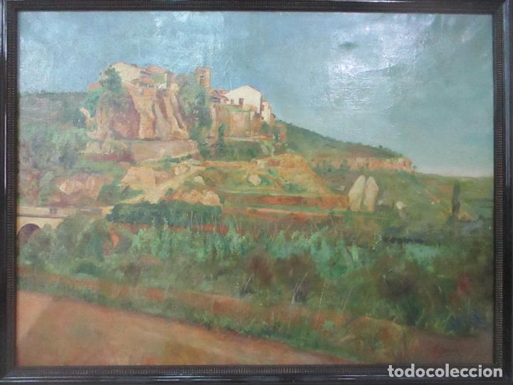 Arte: Óleo sobre Tela - Paisaje - Firma F. Carreras (Orán, Argelia 1925) - Estudió en Mallorca - Foto 2 - 115768731